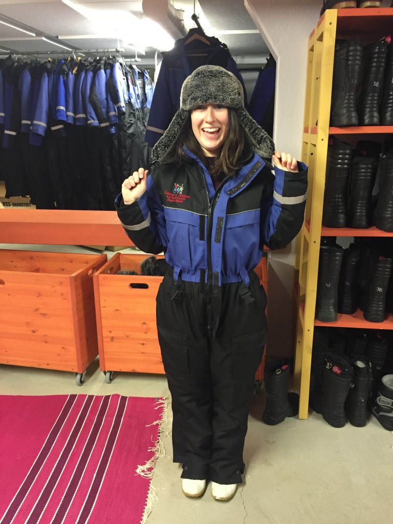 Bundled up in very fashionable snowsuits!