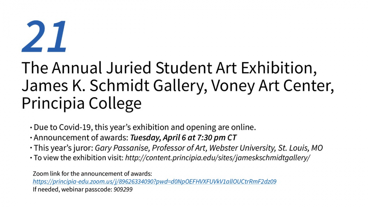 21: The Annual Juried Student Art Exhibition