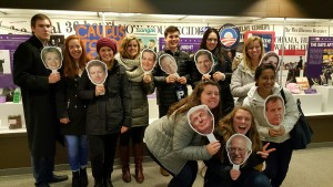 """Selfies with the """"candidates"""""""