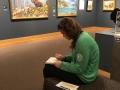 Jordan sketching in the Museum